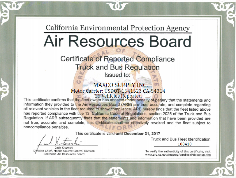 Maxco arb certification for 2017 maxco maxco arb certification for 2017 yadclub Image collections